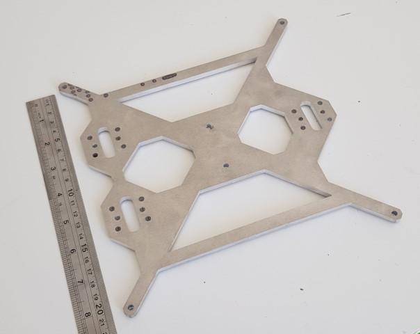 Estrutura Prusa i3 Alumínio (Frame- apoio Mesa) 20x20cm para mk2b
