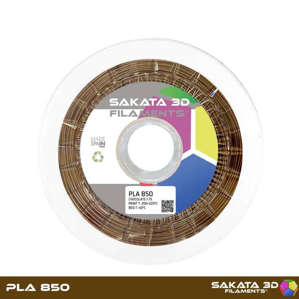 PLA INGEO 3D850 Sakata 3D - 1.75mm 1Kg - CHOCOLATE