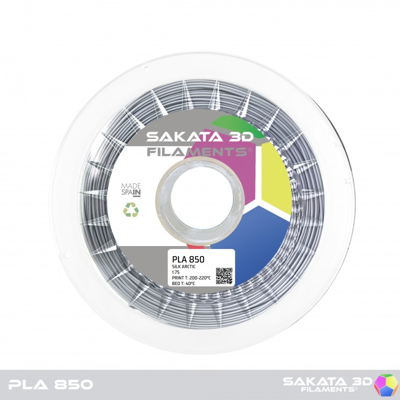 PLA INGEO 3D850 Sakata 3D - 1.75mm 1Kg - SILK ARTIC