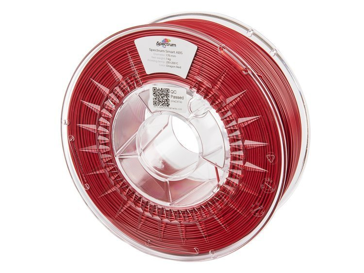ABS SMART Spectrum - 1.75mm 1Kg - Dragon Red (RAL3031)