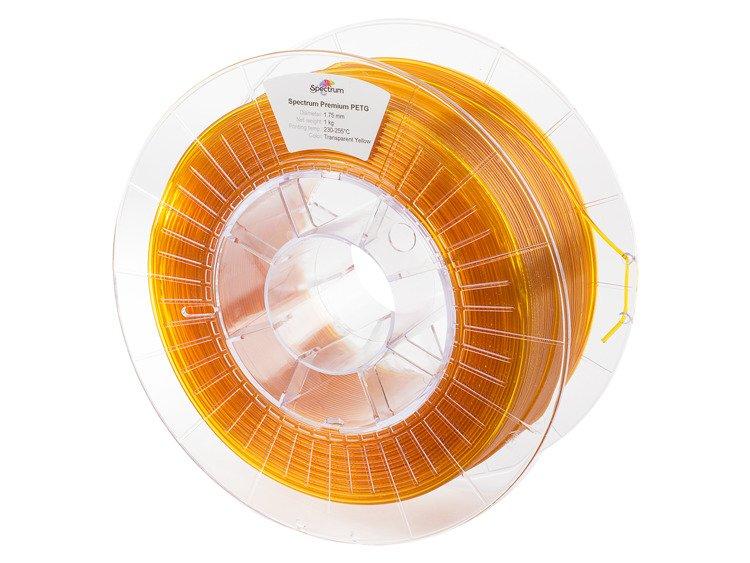 PETG Spectrum - 1.75mm 1Kg - Transparent Yellow