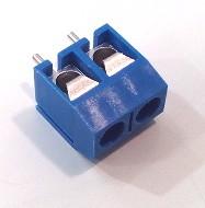 Conector 2 Pins Azul para PCB